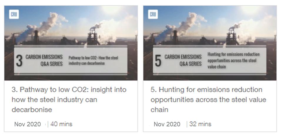 CRU Emissions Q&A Session - Steel value chain emissions