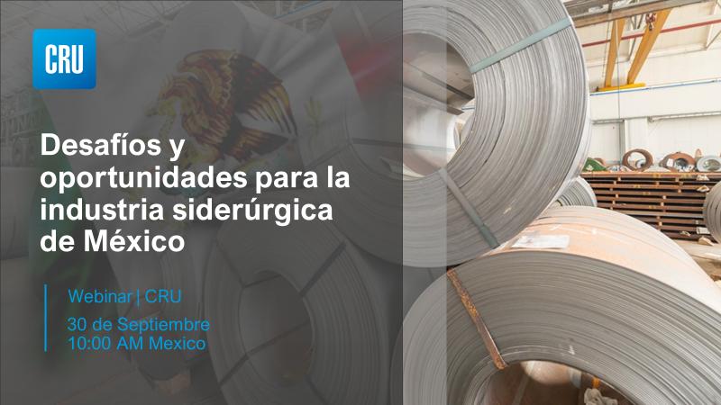 CRU Mexico Steel Webinar - Desafíos y oportunidades para la industria siderúrgica de México